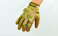 Перчатки тактические MECHANIX с пальцами. Камуфляж multicam L