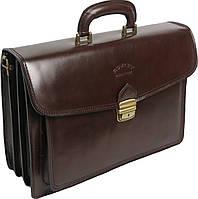 Мужской портфель из качественной натуральной кожи Rovicky AWR-3-2 коричневый