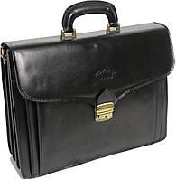 Портфель деловой из натуральной кожи Rovicky AWR-6 черный