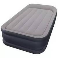 Кровать велюр Intex 64132 с встроенным электронасосом