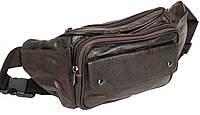 Качественная поясная сумка из кожи Cavaldi HD-2137 brown