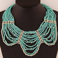 Ожерелье P002979 бирюзовое