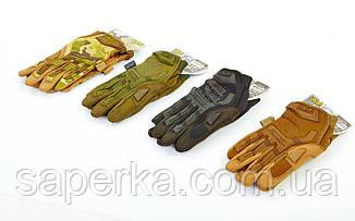 Тактические перчатки Mechanix M-PACT с пальцами. Камуфляж multicam, фото 2