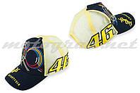 Бейсболка желто-черная сетка 46 VALENTINO ROSSI AND Монстер