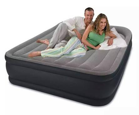 Надувная кровать со встроенным насосом intex 64136, 152-203-42см, фото 2
