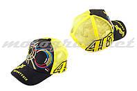 Бейсболка черно-желтая  сетка VALENTINO ROSSI