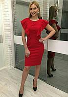 Красное женское офисное платье