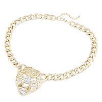 Колье Леопард P004028 под золото