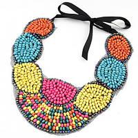 Ожерелье-воротник P001576 разноцветное