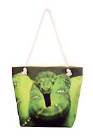 Текстильная сумка XYZ Френди Зелёный Змей