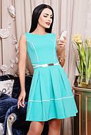 42,44,46,48,50 размер Летний сарафан Кармен зеленое женское платье короткое батал весеннее нарядное по фигуре