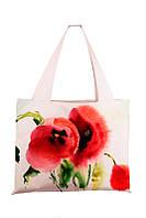 Текстильная сумка XYZ Аквария Маки белая