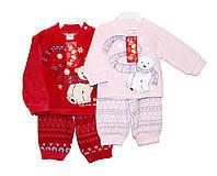 Дитячі костюми велюрові для дівчинки, фото 1