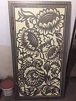 Двери с плазменной вырезкой (Подсолнухи)