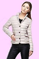 Модная демисезонная куртка прямого фасона с длинными рукавами,  на пуговицах. р.42.44.46.48.50
