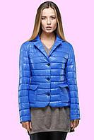 Модная демисезонная куртка прямого фасона с длинными рукавами,  на пуговицах. р.42.48