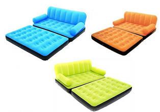 Надувной диван трансформер Bestway 67356 + насос 193X152X64см