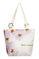 Текстильная сумка XYZ Элегия Хризантема белая