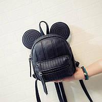 Рюкзак мини Мышка с ушками (черный)