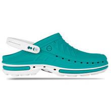 Обувь медицинская Wock, модель CLOG06 (бело-зеленые), по предоплате