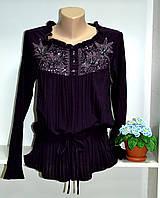 Блуза женская на кулиске с вышивкой, фото 1
