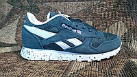 Подростковые демисезонные кроссовки Reebok classic темно-зеленые.