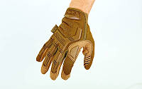 Перчатки тактические с закрытыми пальцами MECHANIX MPACT. Кайот