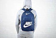 Спортивный городской рюкзак найк (Nike), синий реплика