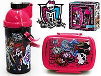 "Набор ""Monster High (Монстер Хай)"". Контейнер для завтрака (ланч бокс) + бутылка с трубочкой"