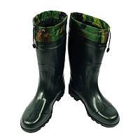 Сапоги мужские ПВХ с утеплителем зеленые