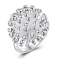 Женское кольцо Колючка гальваническое серебрение 154997 (17.3 18.2 размеры в наличии)