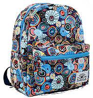 """Модный рюкзак из хлопковой ткани """"Blue"""" от компании  Yes"""
