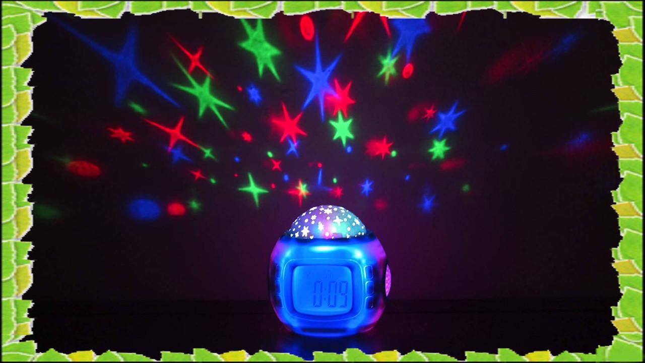 Часы музыкальные - проектор звездного неба  «Music And Starry Sky Fashionable Calendar»