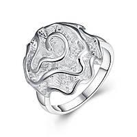 Женское кольцо покрытое серебром Нежный цветок 154892 (16.5 17.3 18.2 19.0 20.0 размеры в наличии)