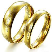 Парные кольца Всевластия из нержавеющей стали из фильма Властелин Колец 153390