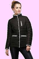 Стильная  демисезонная однотонная куртка приталенного фасона с контрастным кантом. р.42.44.46.48.50.52.54.56