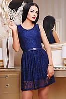 42,44,46,48,50 размер Летний сарафан Божена темно-синий женское большое платье гипюровое короткое вечернее