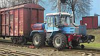 Локомобиль ММТ-2 на базе трактора (мотовоз маневровый, тяговый модуль, маневровый тягач)