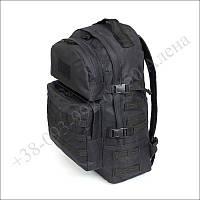 Тактический рюкзак 40 литров черный для военных, армии, туризма нейлон