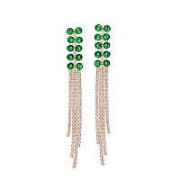 Женские серьги с кристаллами Swarovski Viola las Green 160888