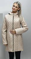 Куртка длинная стеганная из лаковой плащевки, фото 1