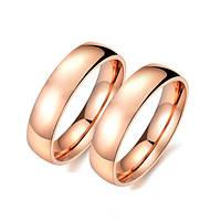Парные кольца из стали Новые Обручальные 162025 (16.5 17.3 18.2 19.0 20.0 размеры в наличии)
