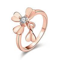 Кольцо с брелочком Искренняя любовь 165948 18K Rose Gold Plated (18.2 размер в наличии)
