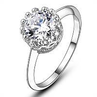 Позолоченное женское кольцо бижутерия с белым камнем Вилл Сокровище морей 171600