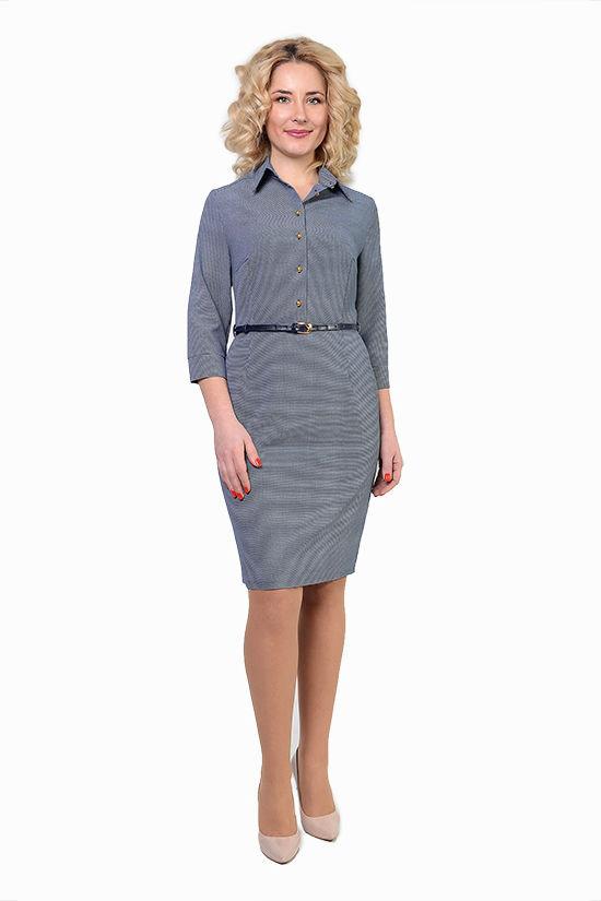 Стильное деловое платье с поясом Лаура р 50.52.54.56.58.60