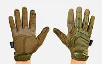 Перчатки тактические с закрытыми пальцами MECHANIX MPACT. Олива