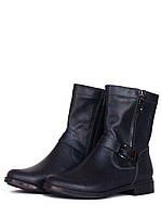 Ботинки женские синие кожаные