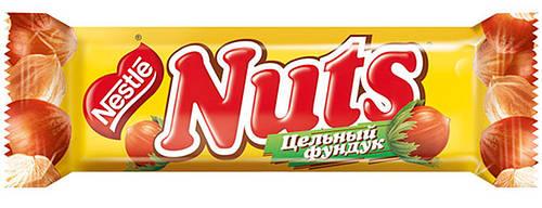 Шоколадный батончик nuts 50 г