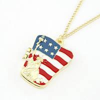 Цепочка с кулоном Статуя Свободы Американский Флаг P004260