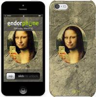 """Чехол на iPhone 5c Мона Лиза с айфоном """"943c-23"""""""